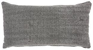 Modern Distress Lattice Life Styles Gray Pillow, , large