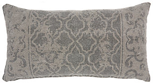 Modern Distress Lattice Life Styles Gray Pillow, , rollover