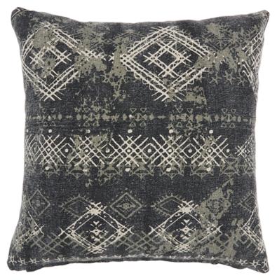 Modern Distress Diamonds Life Styles Charcoal Pillow, , large
