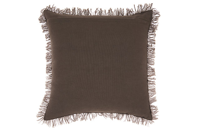 Modern Woven Ombre Life Styles Charcoal Throw, Gray, large
