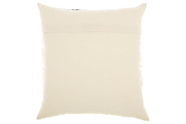 Modern Center Diamonds Life Styles Cream Pillow, , large