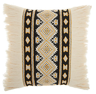 Modern Center Diamonds Life Styles Cream Pillow, , large