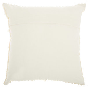 Modern Textured Stripes Life Styles Ivory Pillow, , large