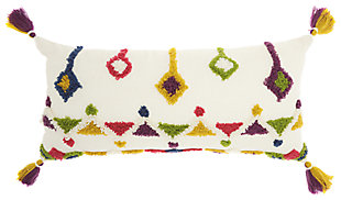 Modern Textured Designs Life Styles Multicolor Pillow, , rollover