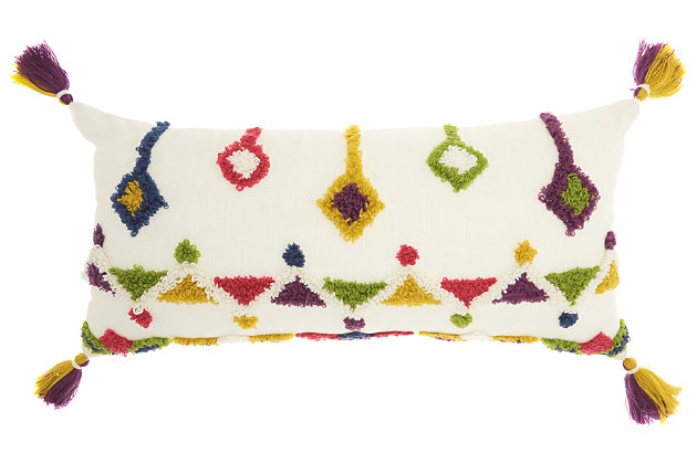 Modern Textured Designs Life Styles Multicolor Pillow, , large