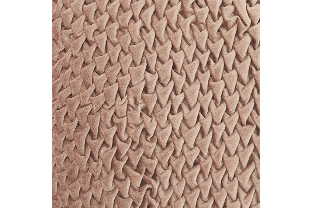 Modern Pleated Velvet Life Styles Nude Pillow, Pink, large