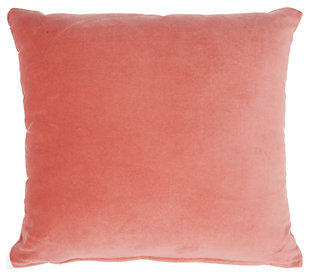 Modern Solid Velvet Life Styles Blush Pillow, Pink, large