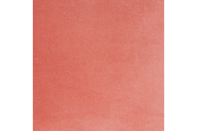 Modern Solid Velvet Life Styles Blush Pillow, Pink, large