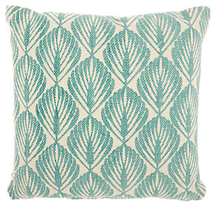 Modern Leaves Life Styles Mineral Pillow, Blue/White, large