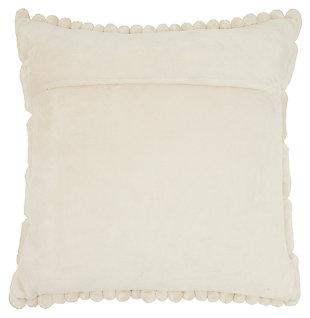 Modern Velvet Cobblestone Life Styles Ivory Pillow, , large