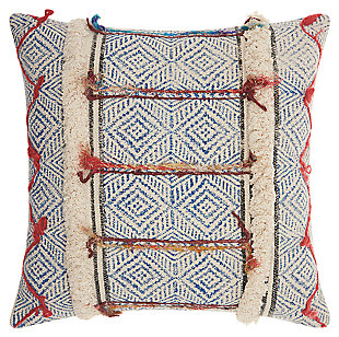 Modern Diamonds Stonewash Life Styles Multicolor Pillow, , rollover