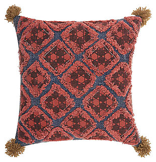 Modern Diamond Patches Life Styles Multicolor Pillow, , large