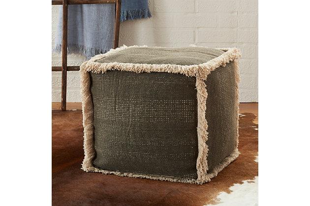 Modern Stonewash Life Styles Charcoal Cube, , large
