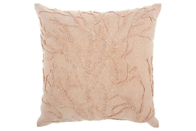 Modern Tree Of Life Life Styles Blush Pillow, , large