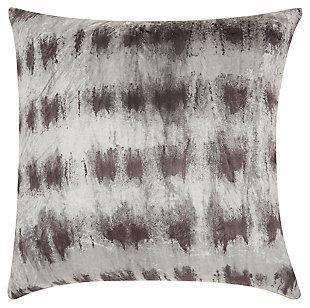 Modern Velvet Tie Dye Life Styles Black/Silver Pillow, Black/Gray, large