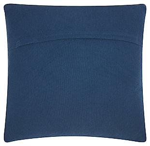 Modern Large Chevron Life Styles Indigo Pillow, Blue, large