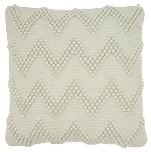 Modern Large Chevron Life Styles Charcoal Pillow, Gray, large