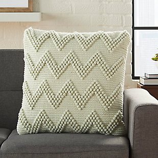Modern Large Chevron Life Styles Charcoal Pillow, Gray, rollover