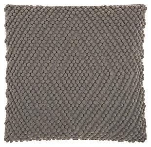 Modern Heavy Loop Diamond Life Styles Light Gray Pillow, , large