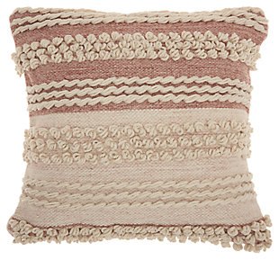 Modern Texture Stripes Life Styles Blush Pillow, , large