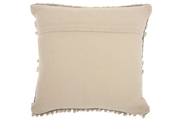 Modern Texture Stripes Life Styles Ocean Pillow, Blue/Beige, large