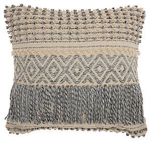 Modern Boho Fringe Life Styles Ocean Pillow, , large