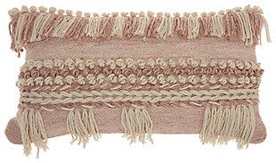 Modern Fringe Border Life Styles Blush Pillow, , rollover