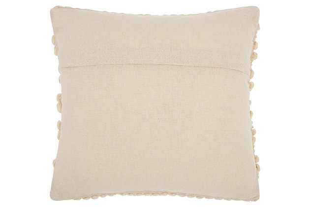 Modern Woven Stripes Life Styles Beige Pillow, Beige, large