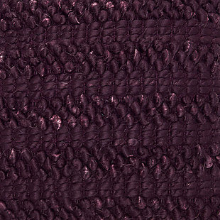 Modern Woven Stripes Life Styles Burgundy Pillow, Purple, large
