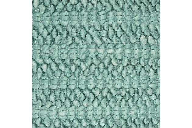 Modern Woven Stripes Life Styles Celadon Pillow, Multi, large