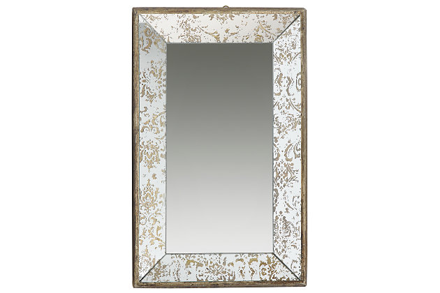 Home Accents Mirror, Antique Gold Finish, large