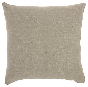 Modern Stonewash Solid Life Styles Gray Pillow, , large
