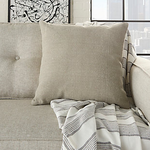 Modern Stonewash Solid Life Styles Gray Pillow, , rollover