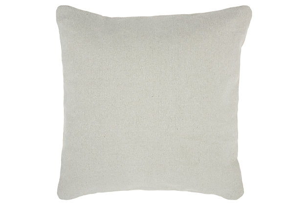 Modern Stonewash Solid Life Styles Gray Pillow, Gray, large