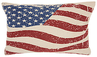 Modern Wavy American Flag Life Styles Multicolor Pillow, , large
