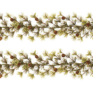 Decorative 9' Wasatch Mountain Cashmere Ming Pine Garlands (Set of 2), , large