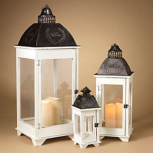 Decorative Nesting Lanterns (set of 3), , large