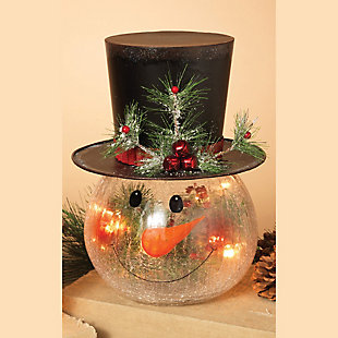 "Decorative 12"" Snowman Head, , rollover"
