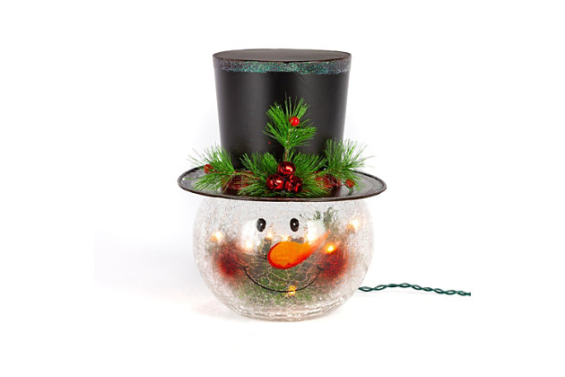 "Decorative 12"" Snowman Head, , large"