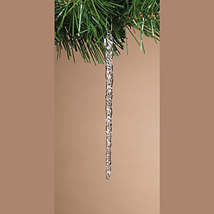 Decorative Spun Glass Hanging Icicle Ornaments (Set of 3), , rollover