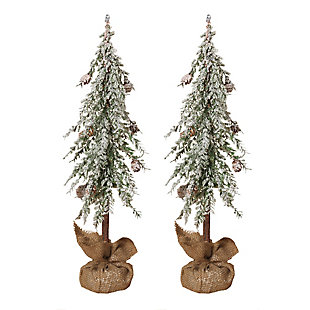 Decorative Snowy Alpine Trees (Set of 2), , rollover