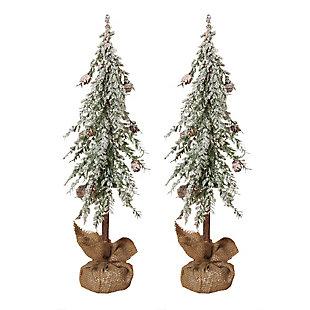 Decorative Snowy Alpine Trees (Set of 2), , large