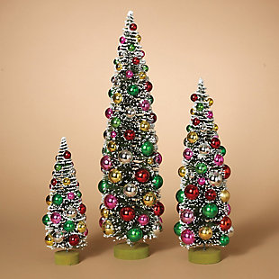 Decorative Assorted PVC Bottle Brush Trees (Set of 3), , rollover