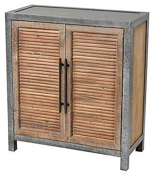 Modern Badlands 2-Door Cabinet in Drifted Oak and Aged Iron, , rollover