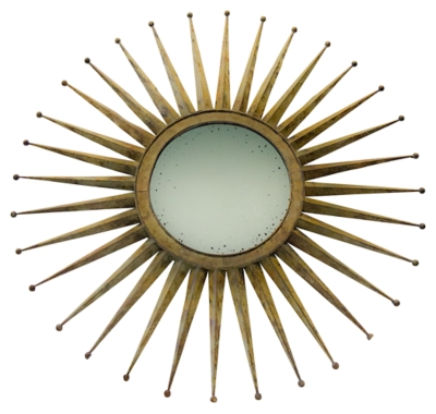 Ashley Home Accents Mirror, Rustic Metal Finish