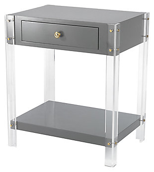 Modern Gothenburg 1-Drawer Accent Table, , large