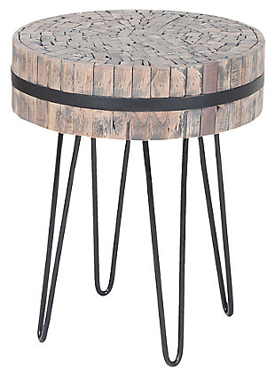 Modern Nutela Accent Table, , large