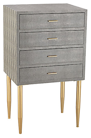 Modern Elm Point 4-Drawer Chest, , rollover