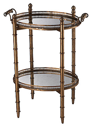 Modern Tyrella Gold Finish Tray Table, , large