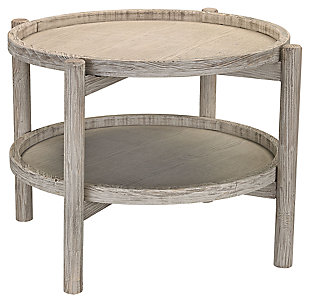 Modern Driftwood Finish Side Table, , rollover